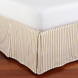 The Emily Meritt Metallic Stripe Bed Skirt Full In 2019