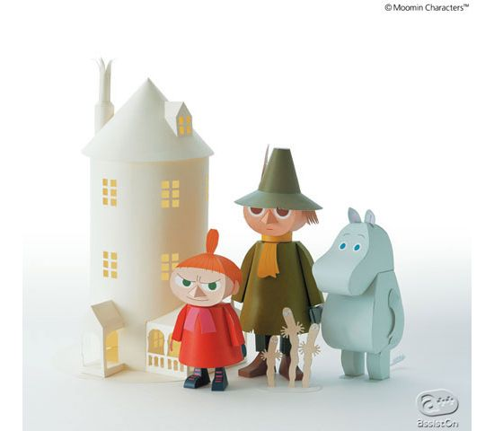 Moomin papercraft from Japan - I grew up watching the Moomins, this is just great !