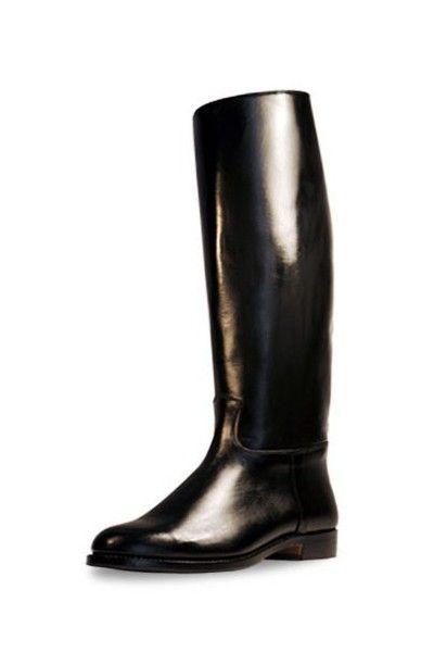 Bottes équitation cuir noir classiques