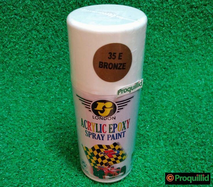 rj LONDON Acrylic Epoxy Spray Paint 35 E Bronze - Proquillid