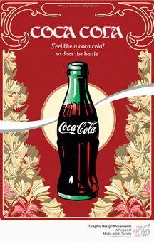 Coca-Cola Advertising - Art Nouveau
