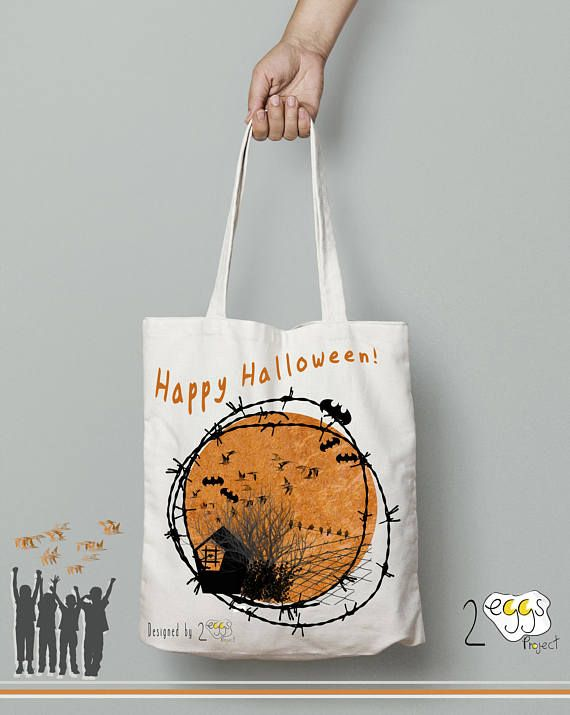 halloween tote bag happy halloween tote bag canvas gift for