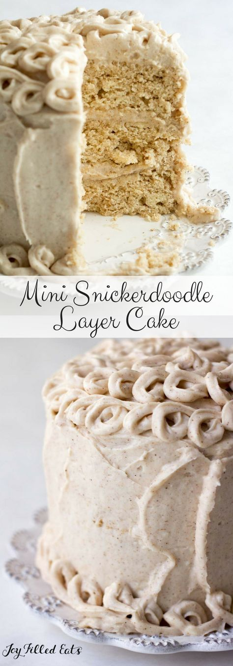 Mini Snickerdoodle Layer Cake – Low Carb, Grain Free, THM S – Cinnamon cake and …