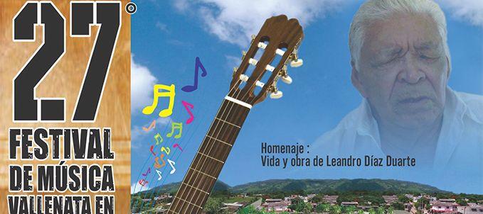 Desde mañana comienza el Festival de Música Vallenata en Guitarra. El Maestro Leandro Díaz será el homenajeado. http://66.147.244.206/~lacallec/diario/blog/2013/08/12/festival-de-musica-vallenata-en-guitarra-el-mejor-en-su-genero/