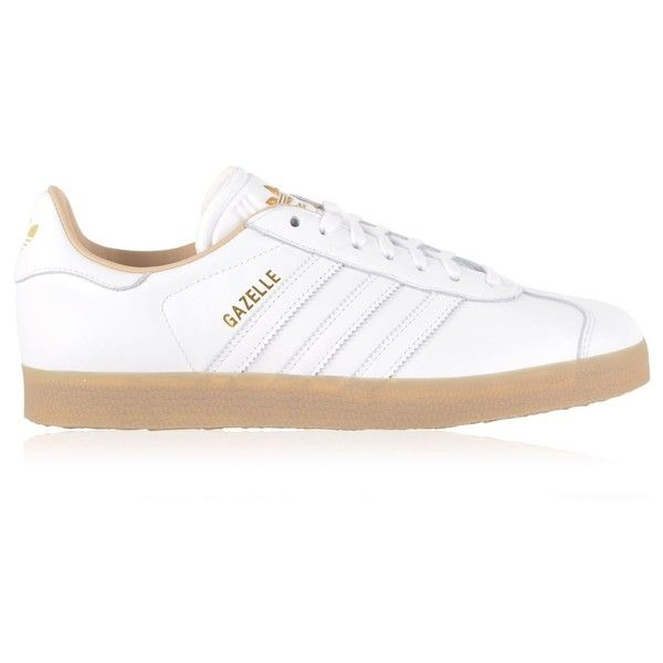 ADIDAS ORIGINALS Gazelle Trainers (€90) ❤ liked on Polyvore featuring shoes, sneakers, adidas originals trainers, leather footwear, retro shoes, retro sneakers and adidas originals shoes