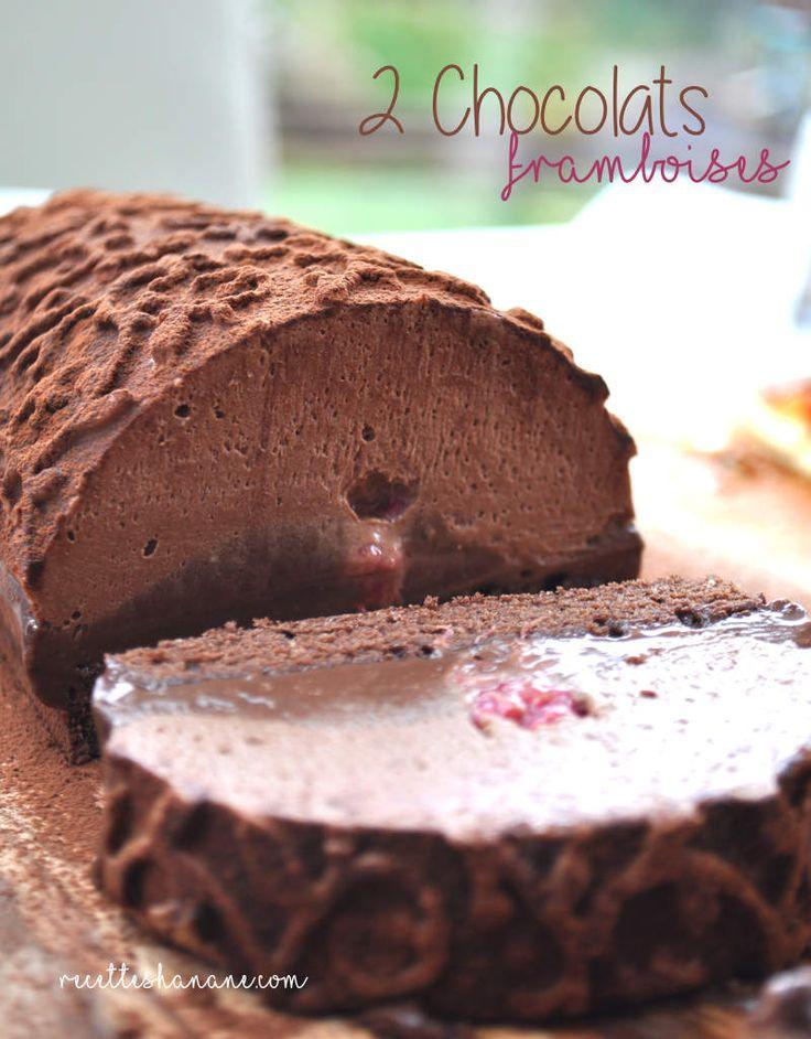 Bûche aux 2 chocolats & Framboises