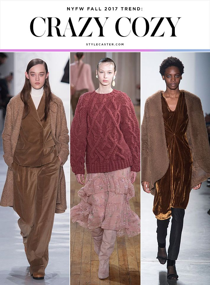 "Crazy Cozy ""Self care"" may be among the most popular phrases to emerge out of the past year, and on the runway it translated into plush cocoon coats, oversized sweaters, and generous silhouettes. Comfort: one trend we can always get behind."