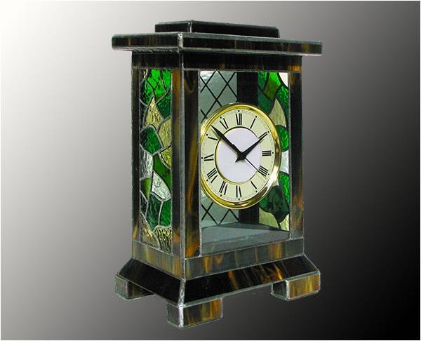 Витражные настольные часы  AGT 4761