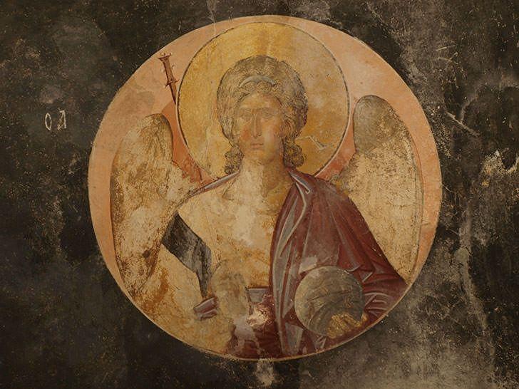 Ο αρχάγγελος Μιχαήλ από τη Μονή της Χώρας. Κωνσταντινούπολη.                     The archangel Michael from the Monastery of Chora. Istanbul.