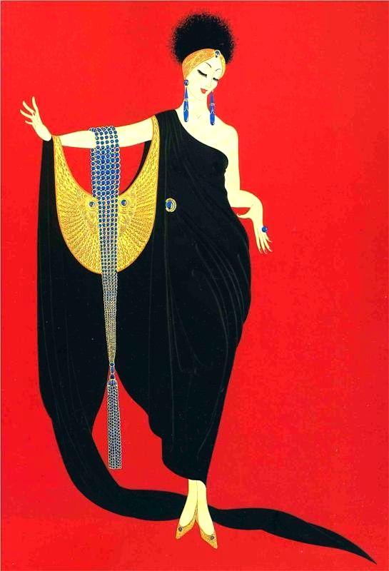 Erte #vintageillustration #fashionillustration #illustration