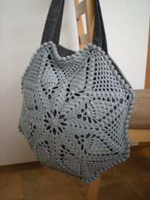 Hello, I came up with another pineapple shoulder bag. This time I tried an octagon shape....
