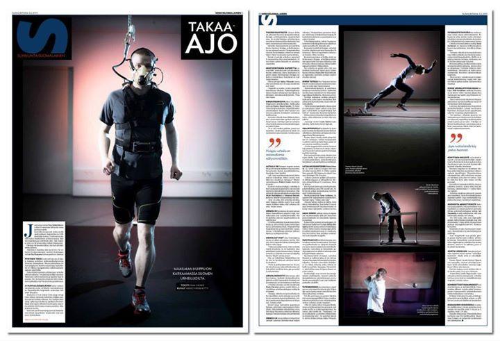 European Newspaper Award Huippu-urheilusta ja valmennuksesta kertova Takaa-ajo oli lehdessä 3.2.2013. Kuvat Mikko Vähäniitty, sivun suunnittelu Anniina Louhivuori, teksti Sami Vainio