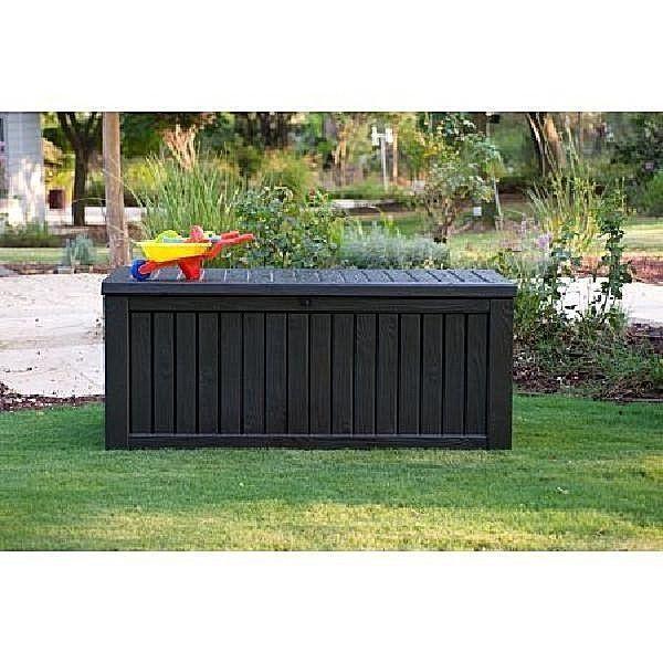 All Weather Large Outdoor Storage Box 150 Gallon Modern Patio Garden Furniture #DealsToday