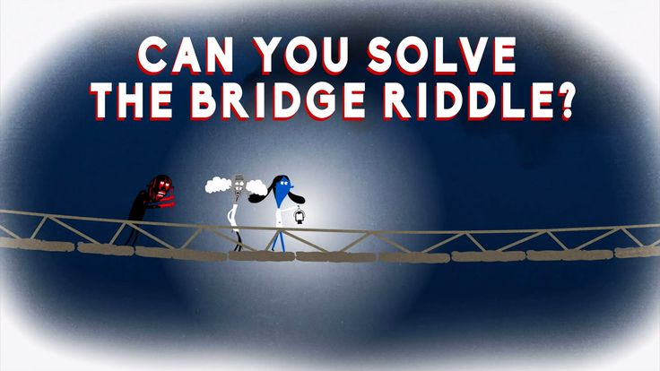 Can you solve the bridge riddle? intersting