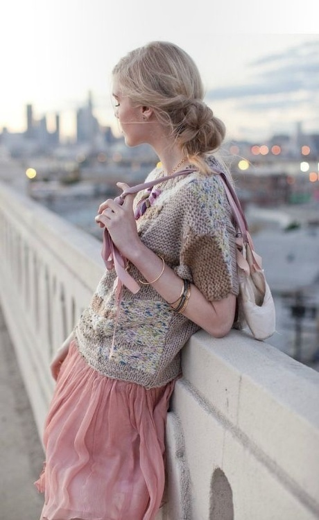 from Lolobu.com  sweet knitted 'patchwork' effect top.... I think I could work schematics to achieve this........