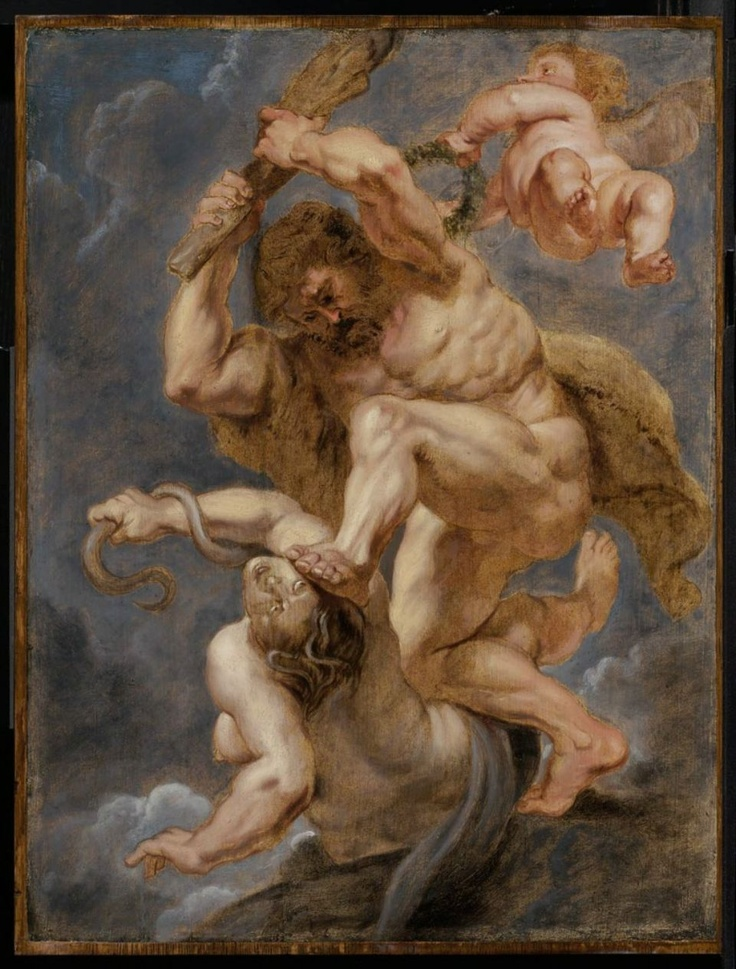 Workshop of Peter Paul Rubens, Hercules as Heroic Virtue Overcoming Discord, about 1632–33.