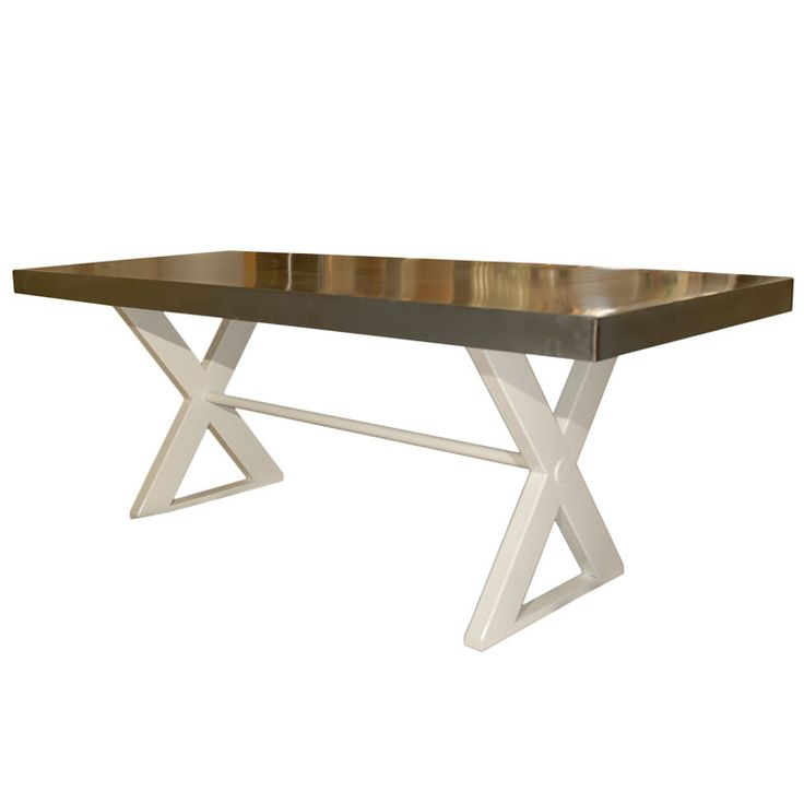 Steel X Base Dining Table Furniture Pinterest