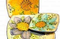 Servizio di piatti quadrati  Moderno nella forma originale nella decorazione. Un servizio di piatti firmato Robustella, ideato per coloro che prediligono l'eccellenza dell'artiginalità e  che guardano con ammirazione l'evolversi dello stile moderno.
