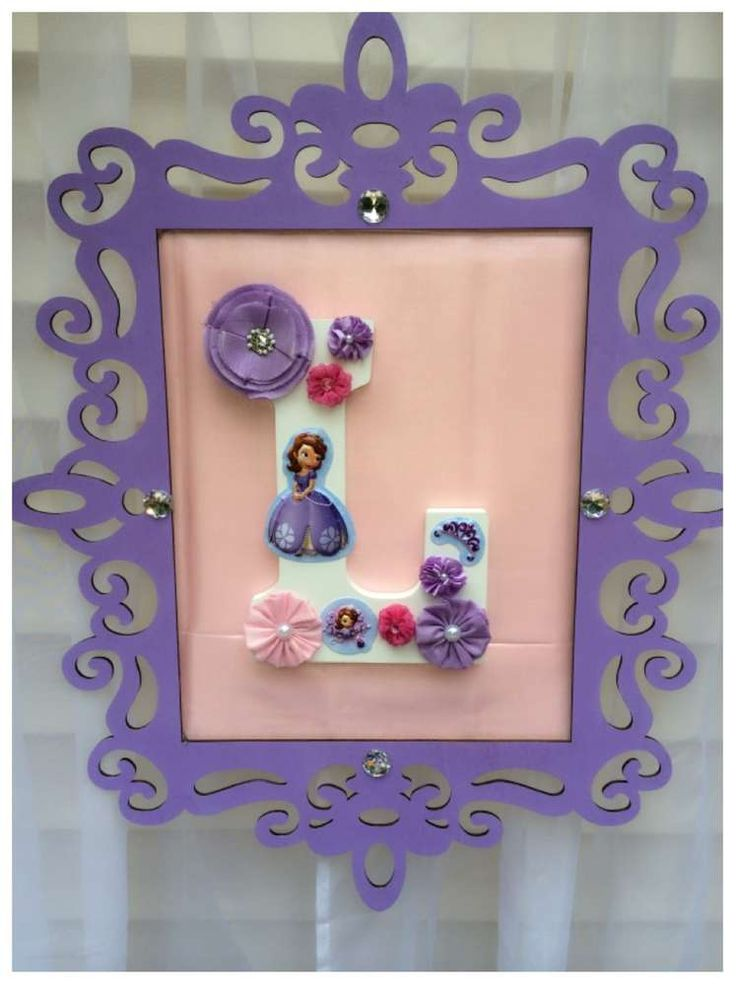 Sofia the First Birthday Party Sign!  See more party planning ideas at CatchMyParty.com!