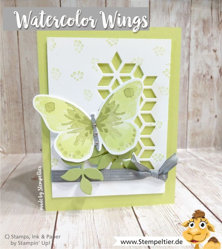 Stampin up blog watercolor wings butterfly lime eclectic layers thinlits stmpeltier butterflies