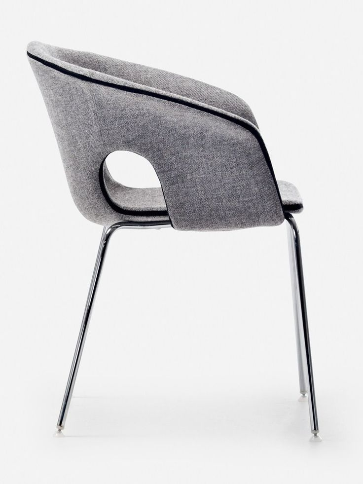 Reception chair with armrests BENNET by La Cividina | design Luca Botto