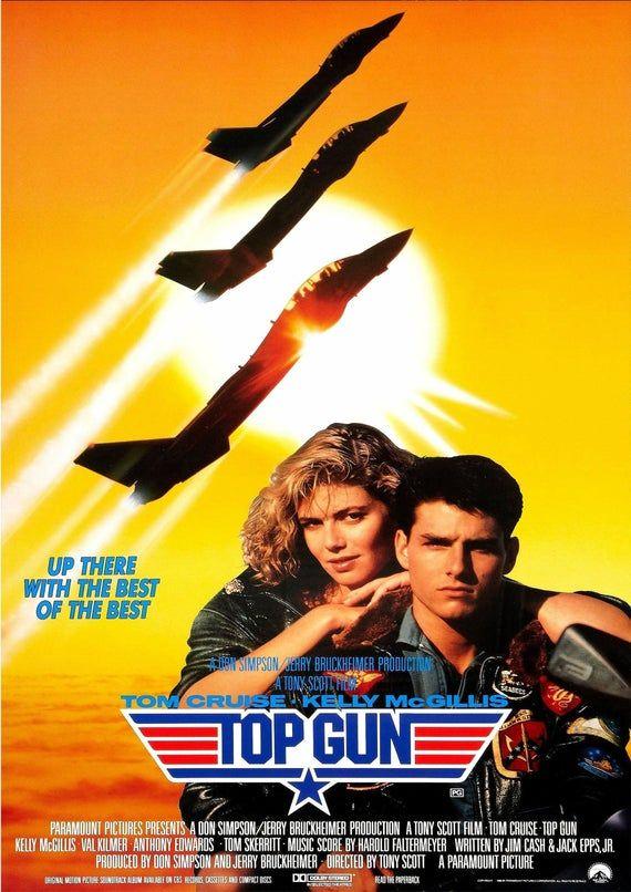 Top Gun v2 Poster Glossy Size A1 A2 A3 A4 Framed or Unframed