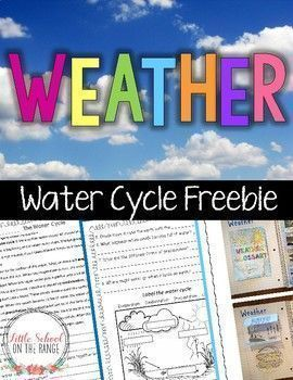 Weather and Water Cycle FREEBIE: This FREEBIE is a sample of the Weather No-Prep Unit that has been revised! There are now 56 pages in the complete unit. The cross curricular unit will keep your students ENGAGED while teaching them all they need to know a