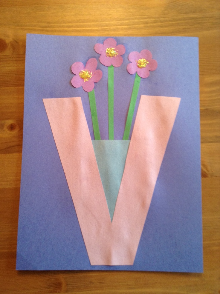 V is for violets in a vase - May 26 - Letter CraftWeeks ...