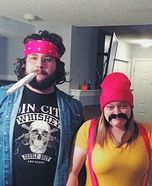 Coolest couples Halloween costumes - Up in Smoke Cheech and Chong Homemade Costume