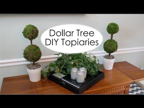 Dollar Tree Decor | Pottery Barn Inspired Topiary - YouTube