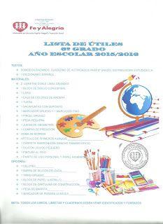 """Colegio Sagrada Familia """"Fe y Alegría"""": Lista Escolar 6to grado """"A"""" y """"B"""" Año Escolar 2015/2016"""