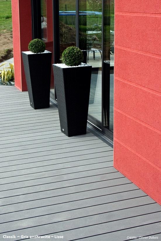 Terrasse composite Classik - Gris anthracite - Océwood®