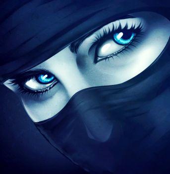 How to Draw Ninja Eyes, Ninja Eyes, Step by Step, Eyes, People, FREE Online Drawing Tutorial.