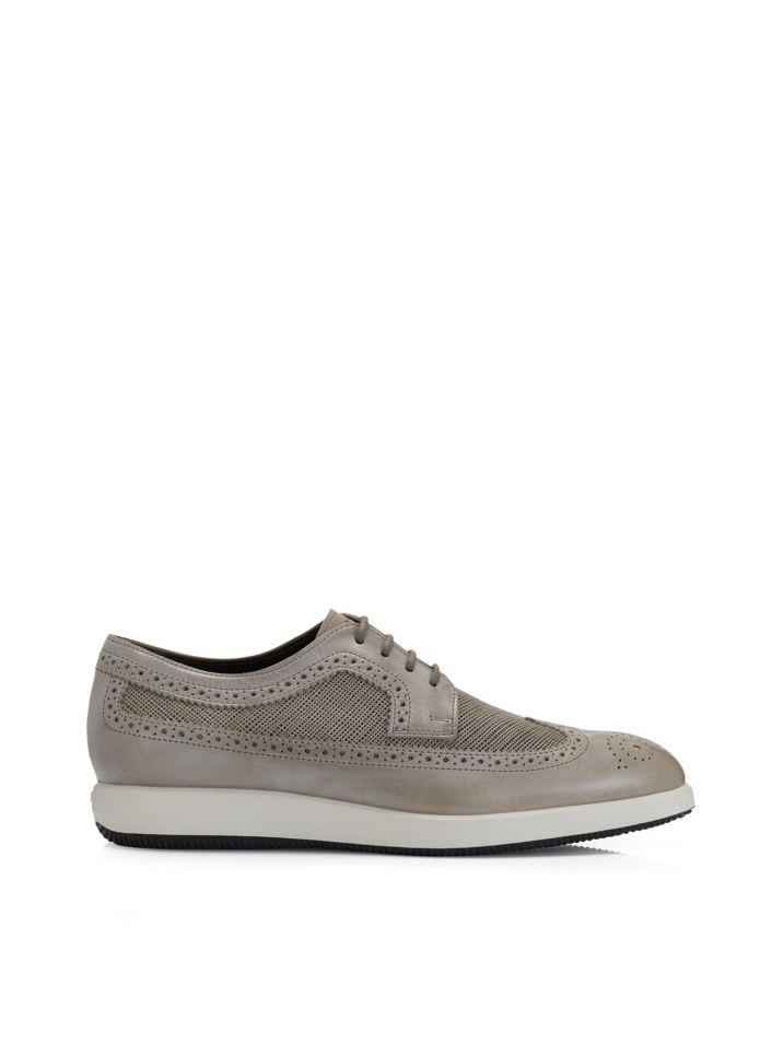 Hogan - Dress X - H209 - HXM2090L0816DDB606 - H209 Dress X crafted in leather with English-style wingtip perforations, geometrical-effect perforated leather panels and ultralight outsole. Casual business look. - Leather upperWingtip perforationsGeometrical-effect perforated leather panelsExposed stitchingUltralight two-tone rubber outsoleArticle made from carefully selected leather, tanned through a special procedure that gives light and shade effects to the product by brushi