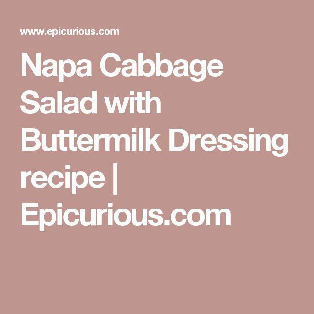 Napa Cabbage Salad with Buttermilk Dressing recipe | Epicurious.com