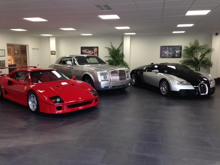 Porcelain Tiles For Luxury Car Showroom Garage Flooring