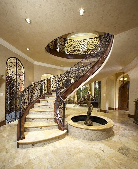 Stunning Staircase And Elevator Design Ideas: Beautiful Spiral Staircase