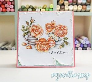 Power Poppy Fire and Ice Roses Tutorial 1
