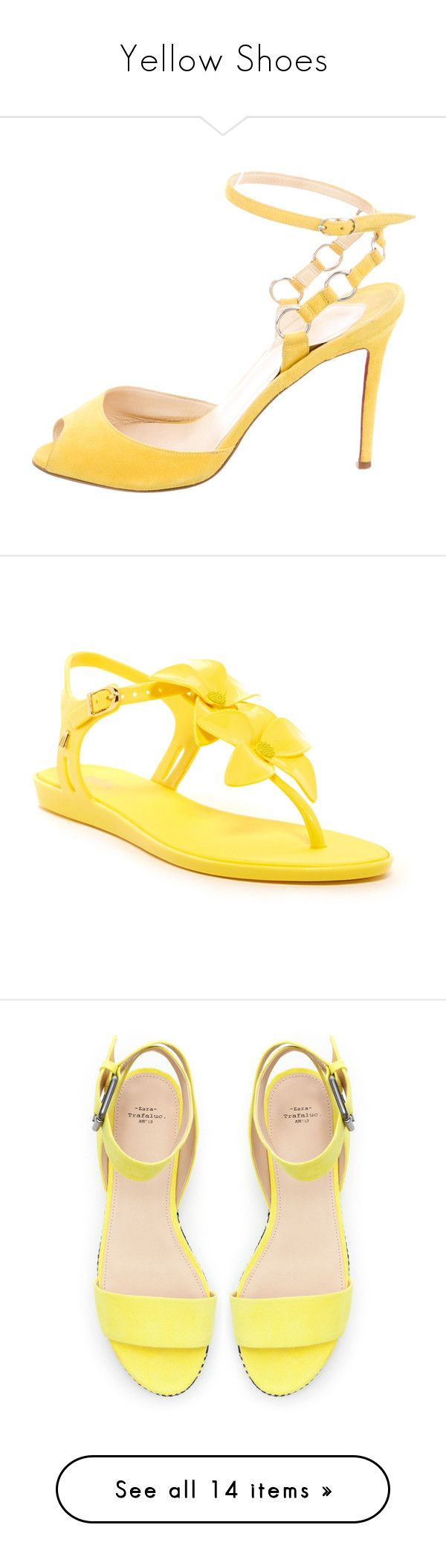 """""""Yellow Shoes"""" by alyssawui ❤ liked on Polyvore featuring shoes, pumps, yellow, peep-toe pumps, peeptoe shoes, yellow peep toe pumps, yellow suede pumps, peep-toe shoes, sandals and yellow ankle strap shoes"""