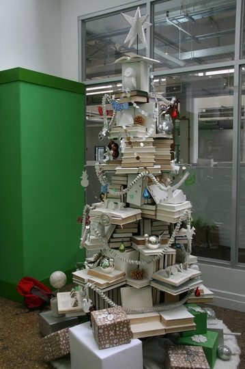 Attractive White And Silver Book Tree