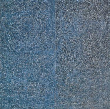 Kim Whanki (19131974) 5-IV-71 #200 Universe 1971 Oil on cotton 254x254cm