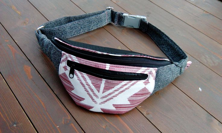 Women's hipbag made of leather and upholstery textile, waist bag, bum bag, travel bag, festival bag, women's gift, handmade hip bag for her by ChignonMignonBags on Etsy