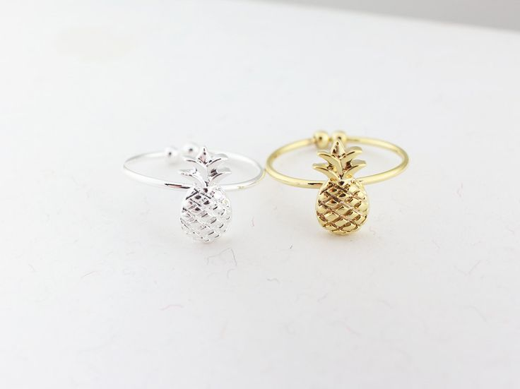 pineapple ring,gold pineapple ring,silver pineapple ring,fruit ring,cute ring,party jewelry,bridesmaid ring,mother ring,sister ring,gift by MYLB on Etsy
