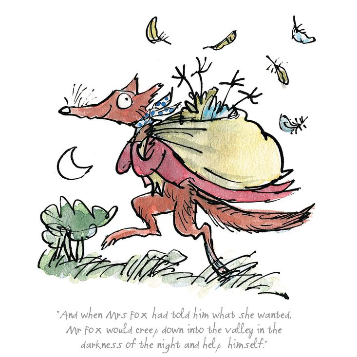 A limited edition print featuring the very cunning Mr Fox ...
