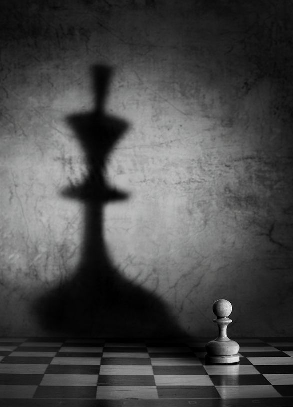 Outstanding Collection Of Creative Pictures. Chess piece and shadow photograph.