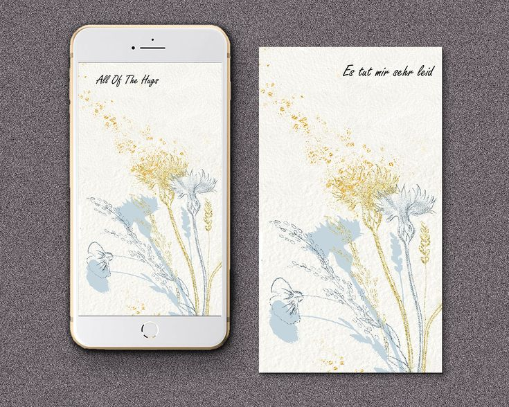Elektronische Sympathiekarte, Beileidskarte Denken an Sie