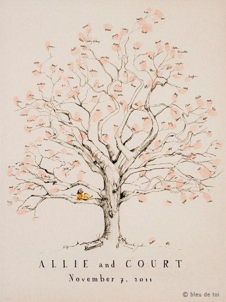 Huella digital árbol novia los libro alternativa por bleudetoi