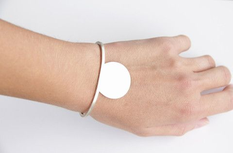 Sterling Silver Cut Circle and Square Wire Cuff – tothemetal