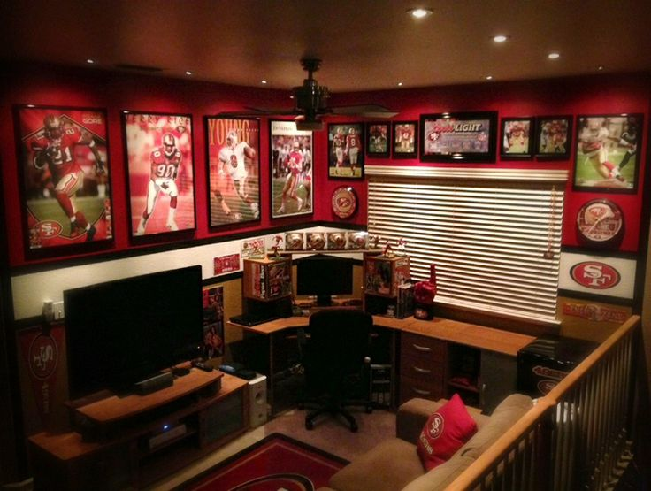 121 best Sports Man Caves images on Pinterest Basement bars