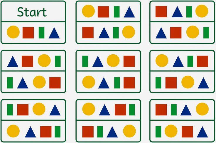 Lernstübchen: Formenlesespiel 4 Formen alle Kombinationen (1)